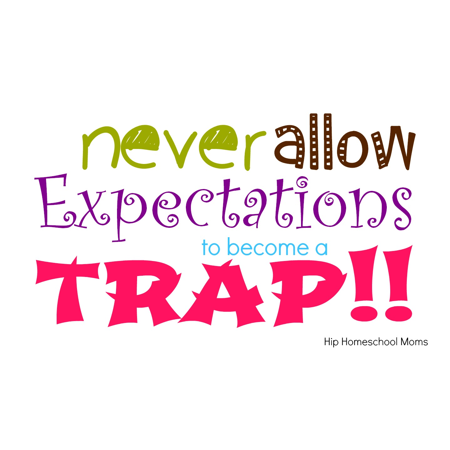 Never allow expectations to become a trap