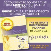 Apologia Ultimate Homeschool Planner:  Review and Giveaway {Closed}