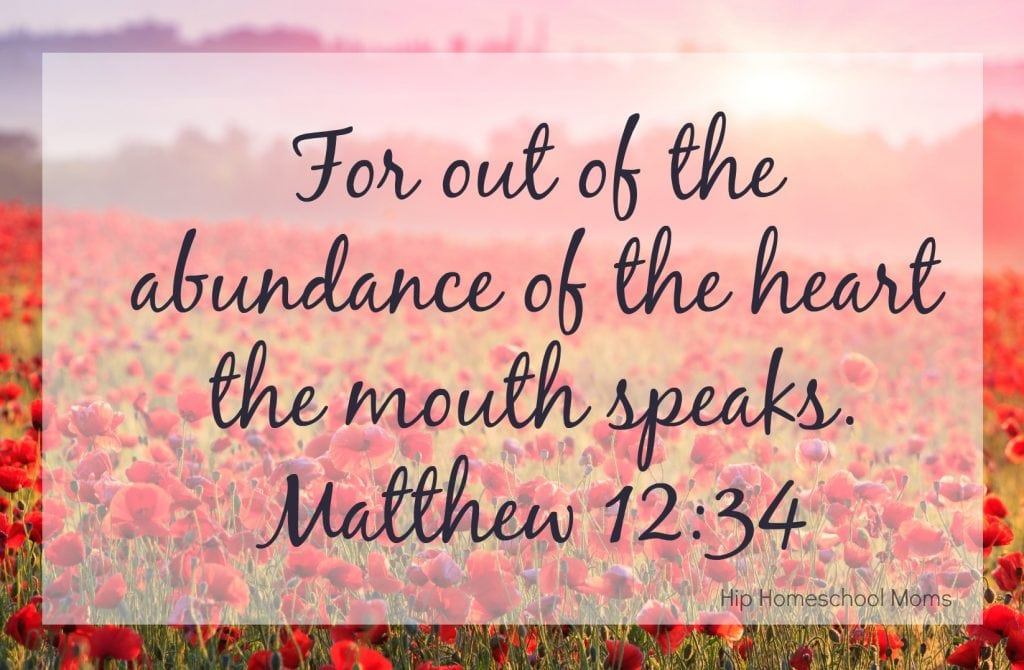 for out of the abundance of the heart