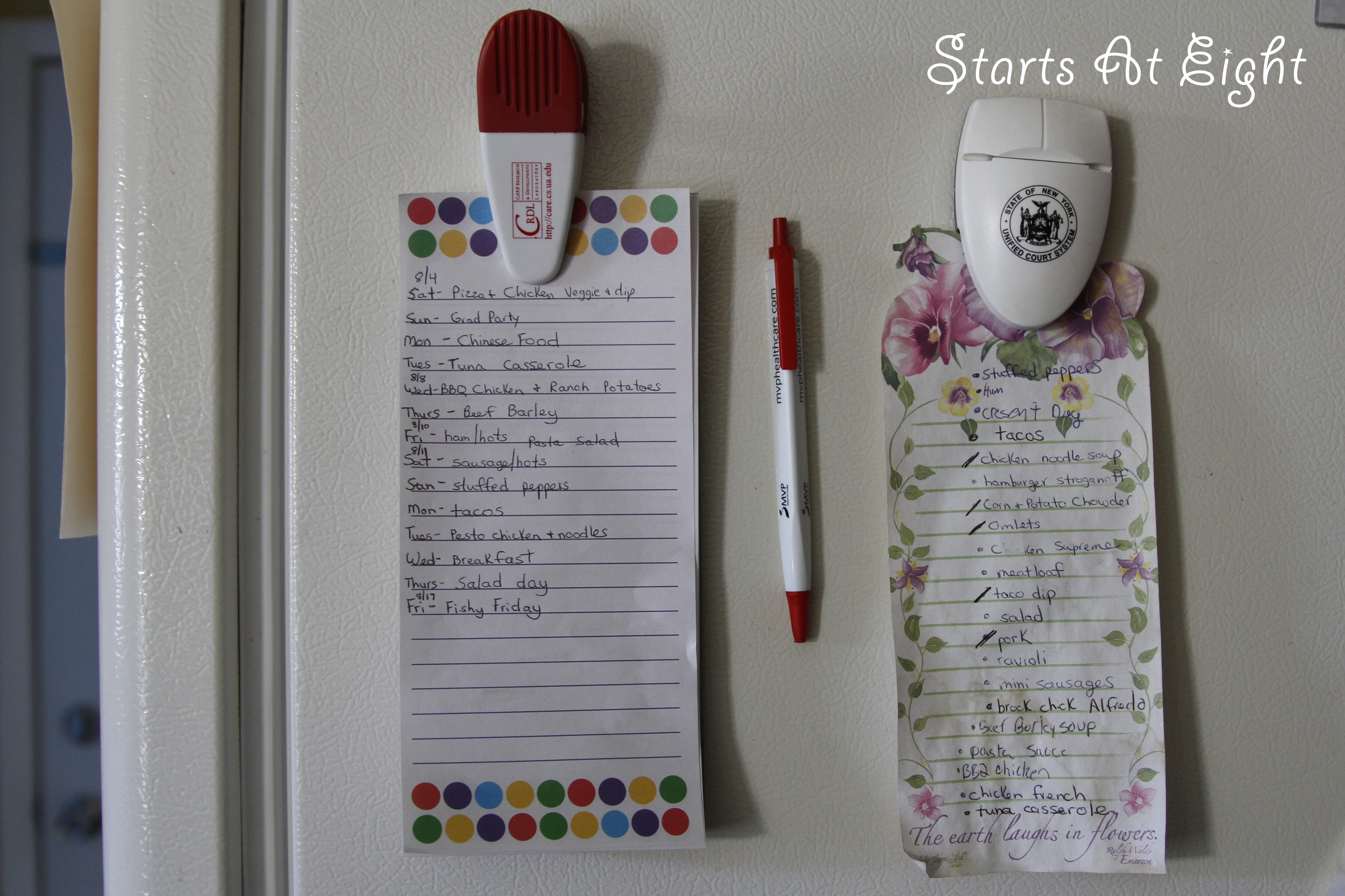 Saving Money and Pounds ~ Biweekly Meal Planning