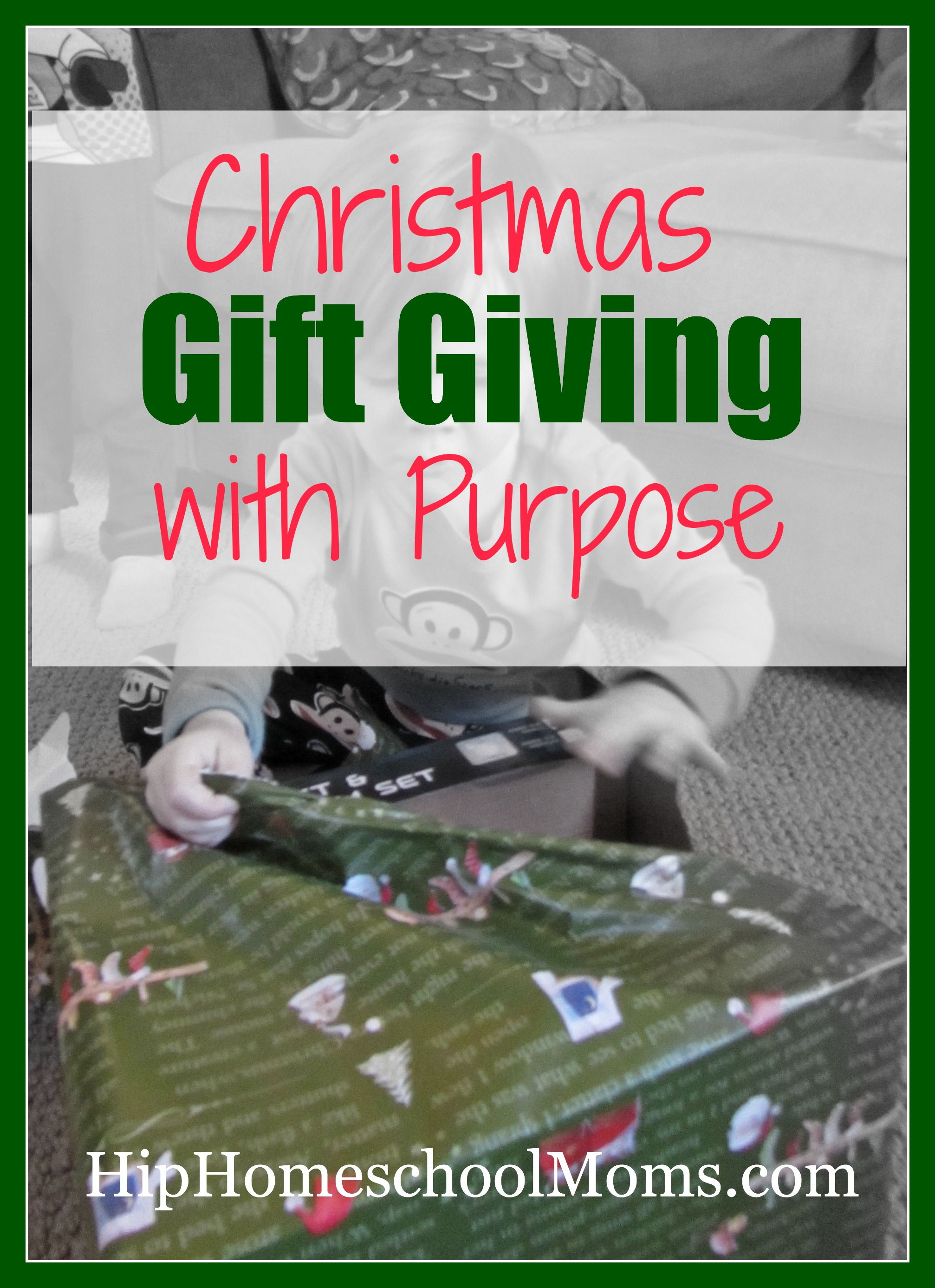 Christmas gift giving with purpose hip homeschool moms christmas gift giving tradition that is patterned after the 3 gifts of the wise men negle Images