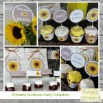 Sunflower Collection Display by sweetlycreative.com