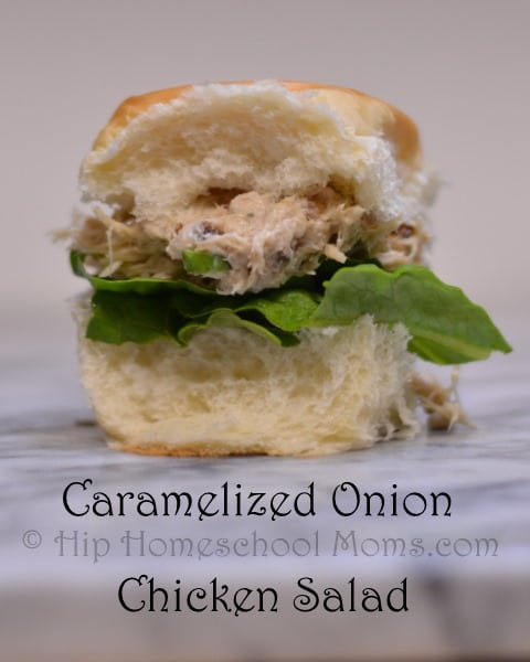 Caramelized Onion Chicken Salad Sandwiches