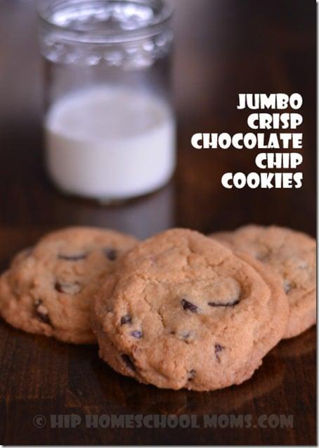 Jumbo Crisp Chocolate Chip Cookies