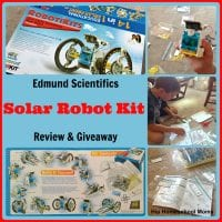 Edmund Scientifics Solar Robot Kit Review & Giveaway from Hip Homeschool Moms