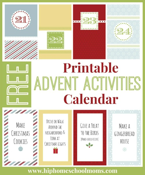 Advent Calendar Ideas Religious : Printable advent activities calendar hip homeschool moms