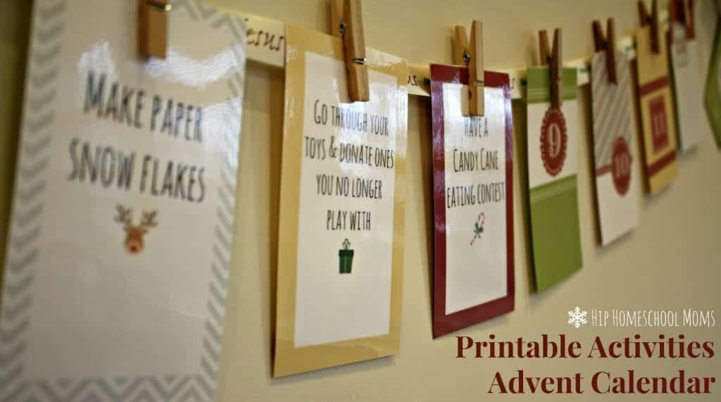 Printable Advent Activities Calendar