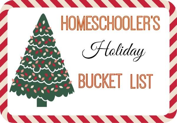 Homeschooler's Holiday Bucket List {Printable}