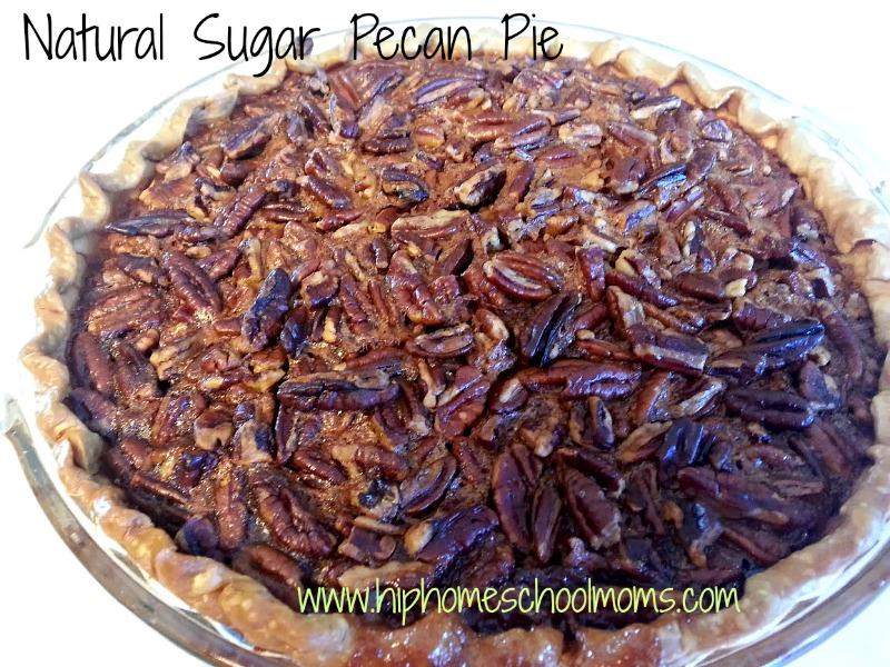 Natural Sugar Pecan Pie | Hip Homeschool Moms