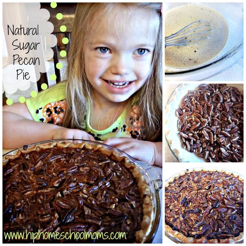 Natural Sugar Pecan Pie  Recipe | Hip Homeschool Moms