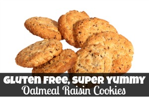 Gluten Free Super Yummy Oatmeal Raisin Cookies