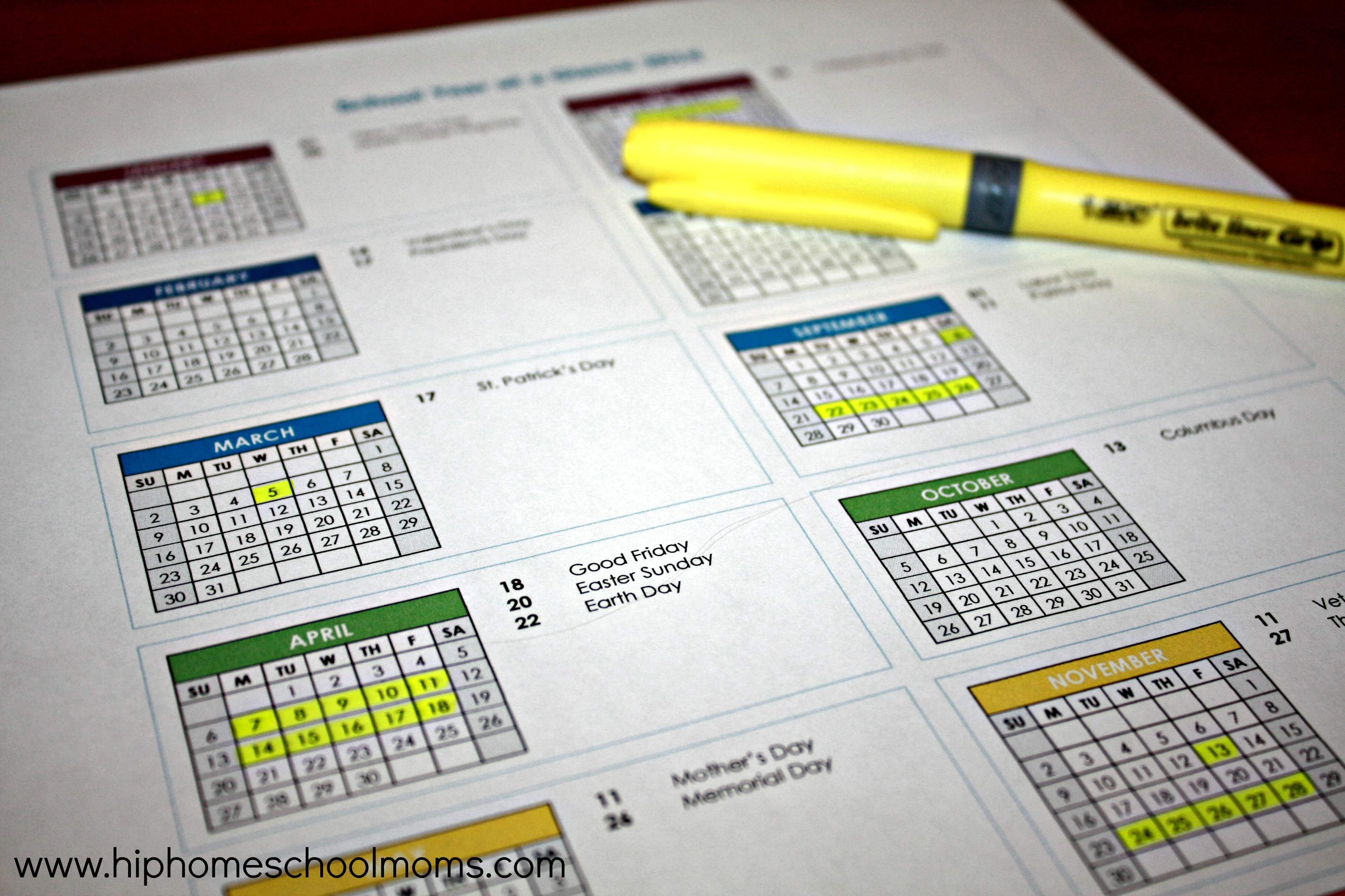 Year Calendar At A Glance : The benefits of homeschooling year round with free