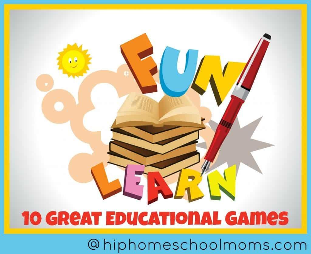 10 Great Educational Games - Hip Homeschool Moms