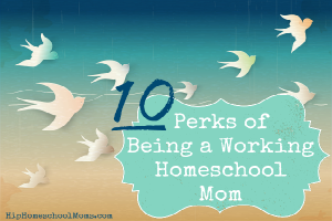 10 Perks of Being a Working Homeschool Mom!