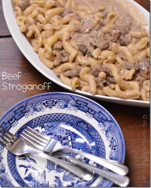 Beef Stroganoff in the Crockpot