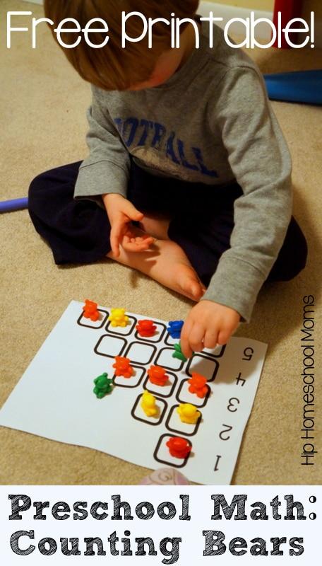 Preschool Math with Counting Bears {Free Printable!} - Hip ...