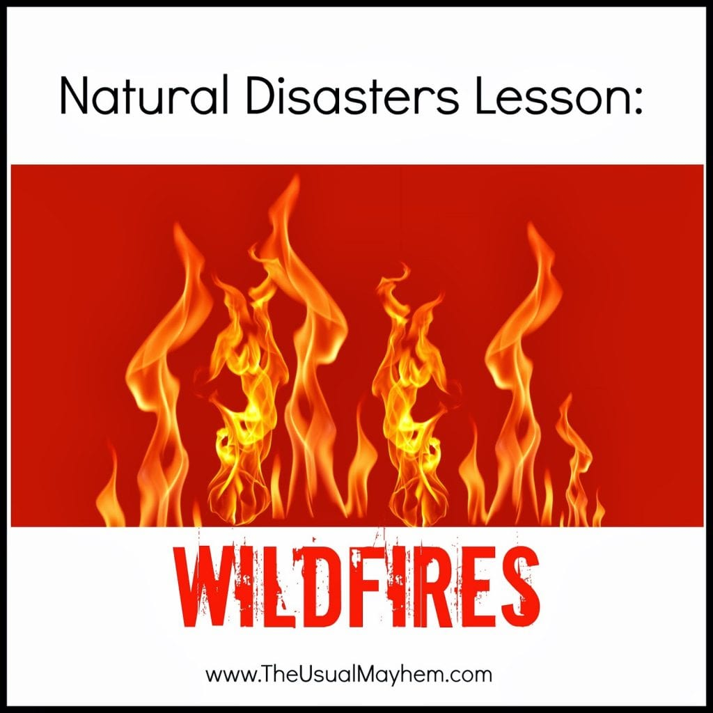 natural disasters lesson wildfire