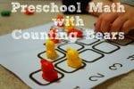 Preschool Math with Counting Bears {Free Printable!}