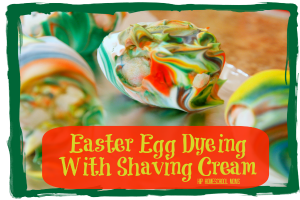 Easter Egg Dyeing with Shaving Cream