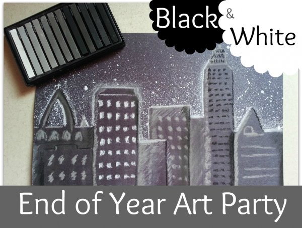 End-of-Year-Black-and-White-Art-Party-600x453