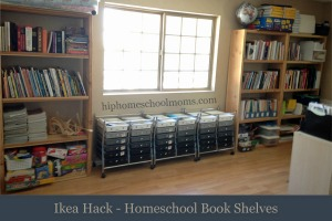 Homeschool Bookshelves Featured Image