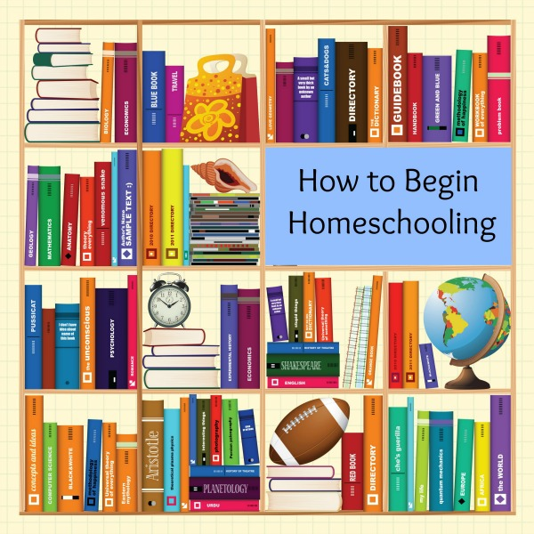 how to begin homeschooling pinnable image