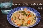 Rosemary Chicken Noodle Soup #Crockpot