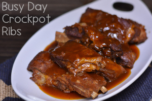 Busy Day Crockpot Ribs from Hip Homeschool Moms