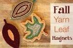 Fall Yarn Leaf Magnets