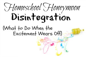 HHM Homeschool Honeymoon Disintegration Featured Image