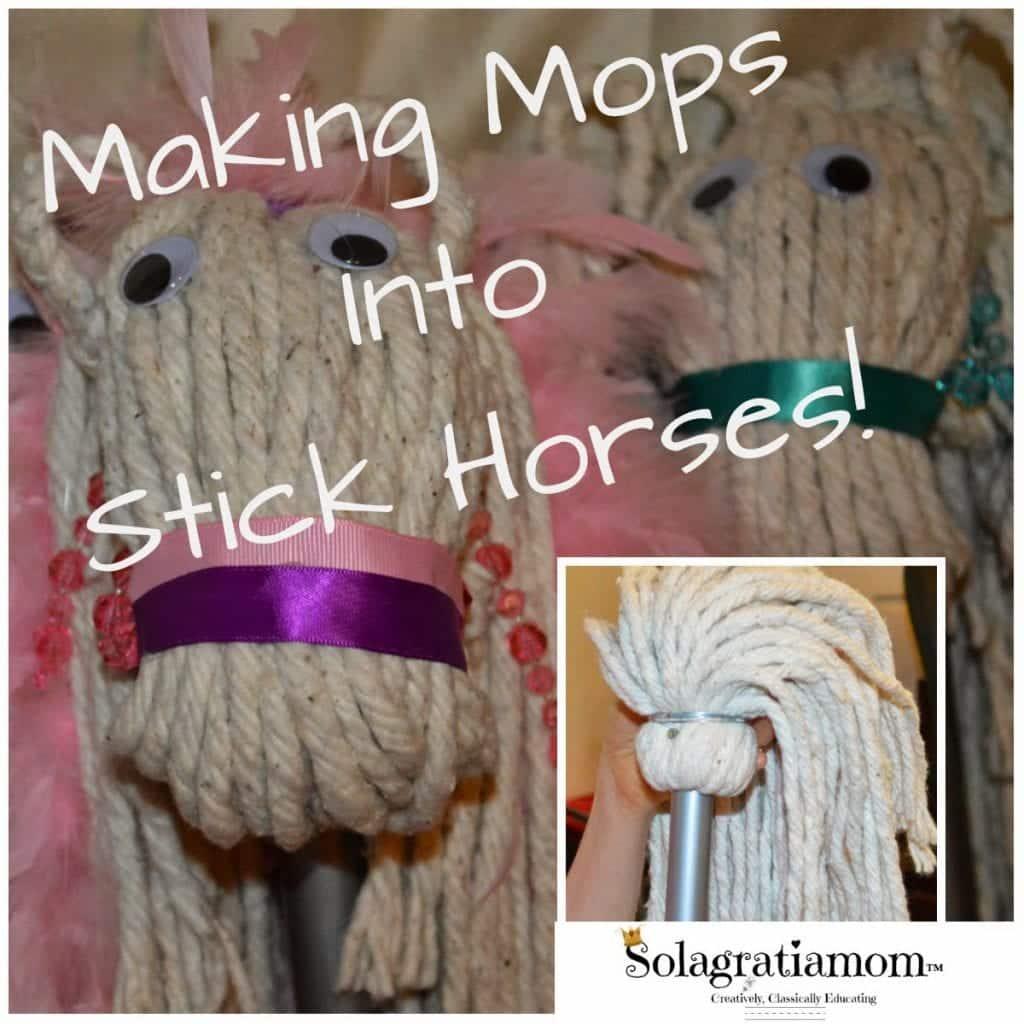 Mop Stick Horses