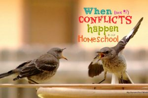 conflicts in homeschool