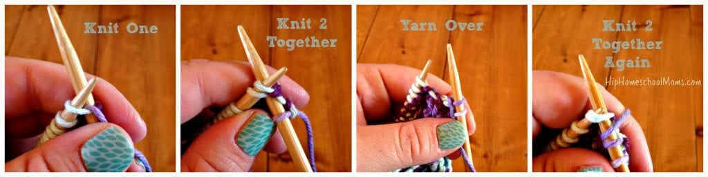 Knitting Increases At End Of Row : Learn to knit a basic washcloth hip homeschool moms