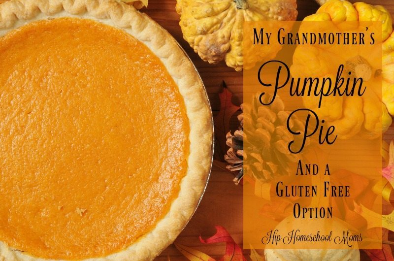 My Grandmother's Pumpkin Pie Recipe (and a Gluten Free Version)