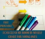 """""""I Can Clean My Room by Myself"""" Chart with FREE Printable"""