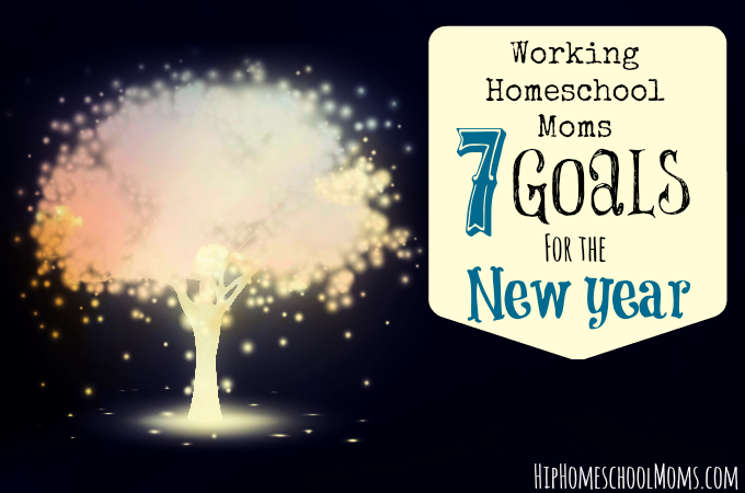 Working Homeschool Moms - 7 Goals for the New Year