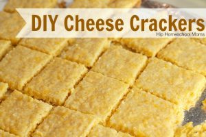 diy cheese crackers