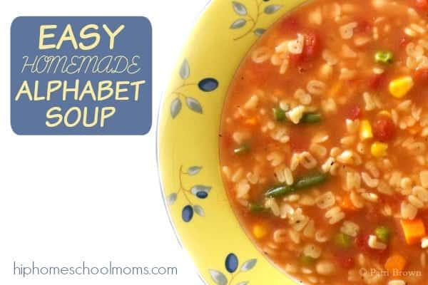 Homemade Alphabet Soup Recipe