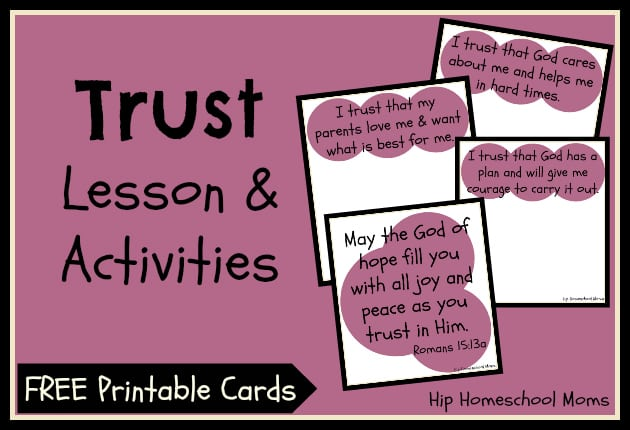 Trust Lesson & Activities (with FREE PRINTABLE)