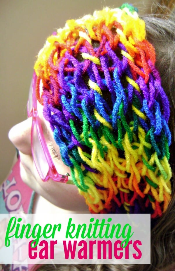 finger-knitting-ear-warmers
