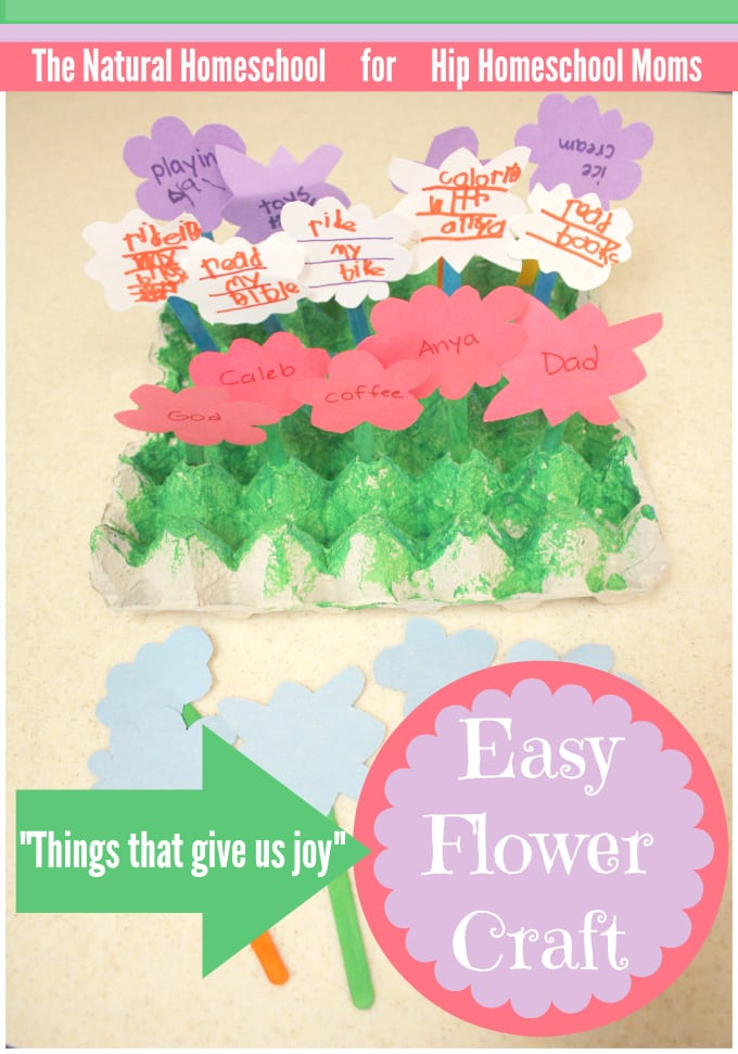 """Things That Give Us Joy"" Easy Flower Craft"