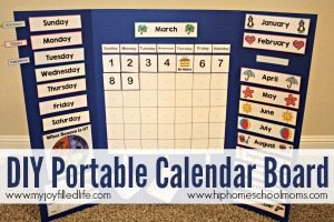 DIY Portable Calendar Board