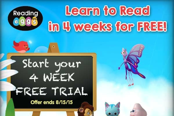 Reading Eggs FREE 4 Week Trial