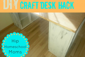 DIY Craft Desk Hack