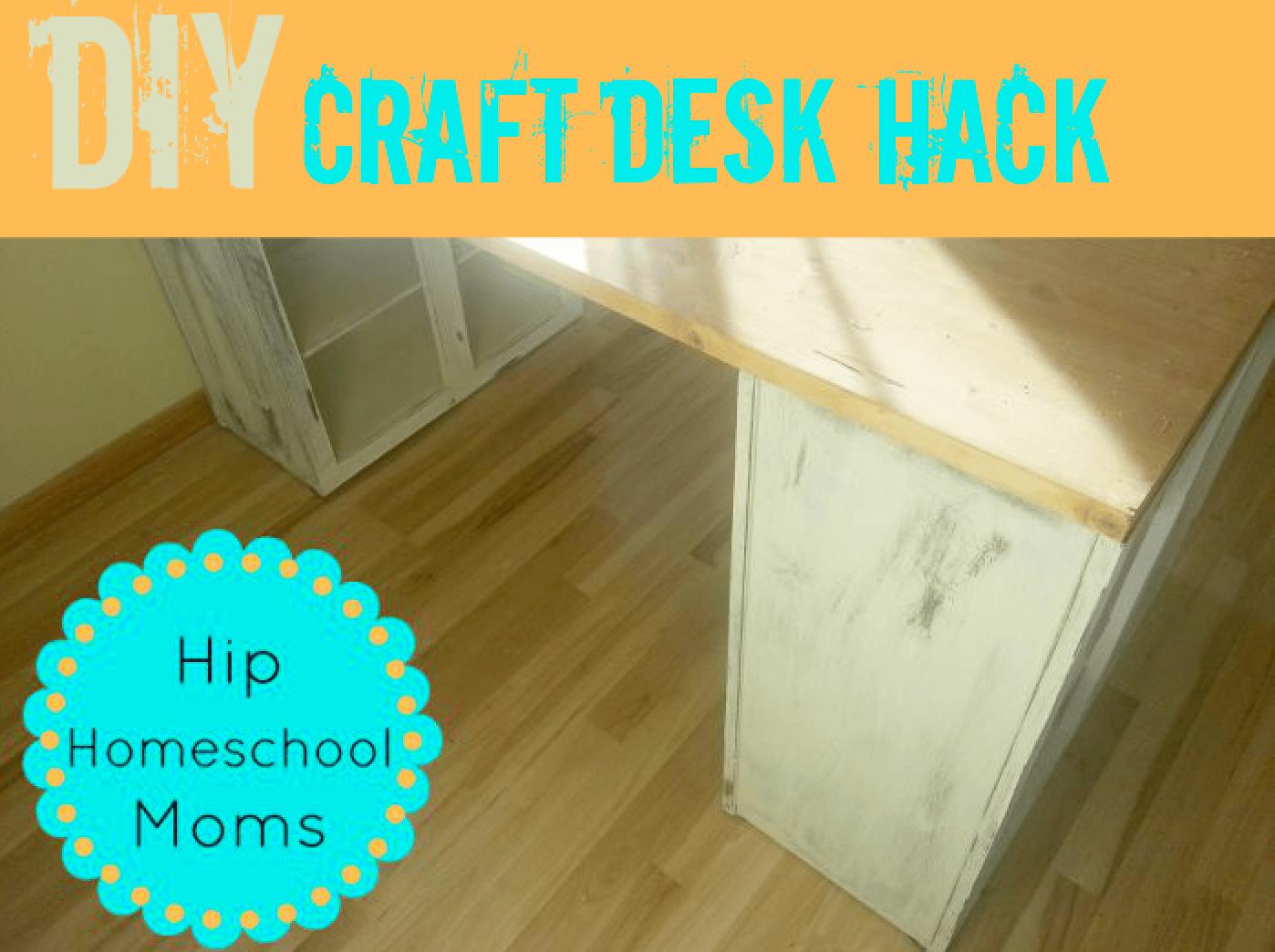 DIY Craft Desk Hack