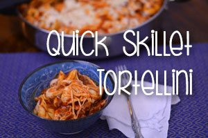 Quick Skillet Tortellini from Hip Homeschool Moms