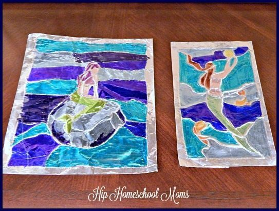 Aluminum Foil Stained Glass Art