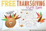Free Printable Thanksgiving Math Game