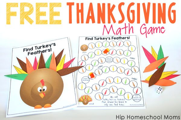 Free Printable Thanksgiving Math Game