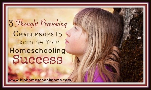 3 Thought Provoking Challenges to Examine Your Homeschooling Success